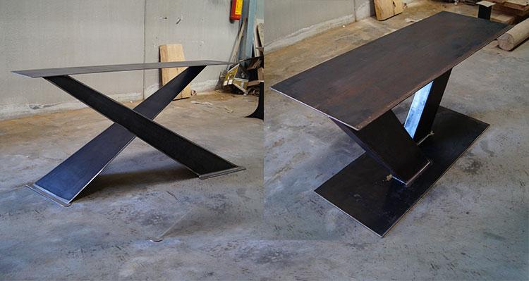 Gambe per tavoli in legno